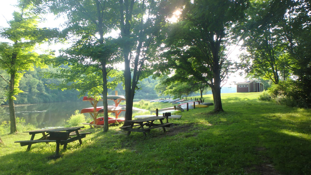 Lackawanna State Park Picnic Tables and Boats