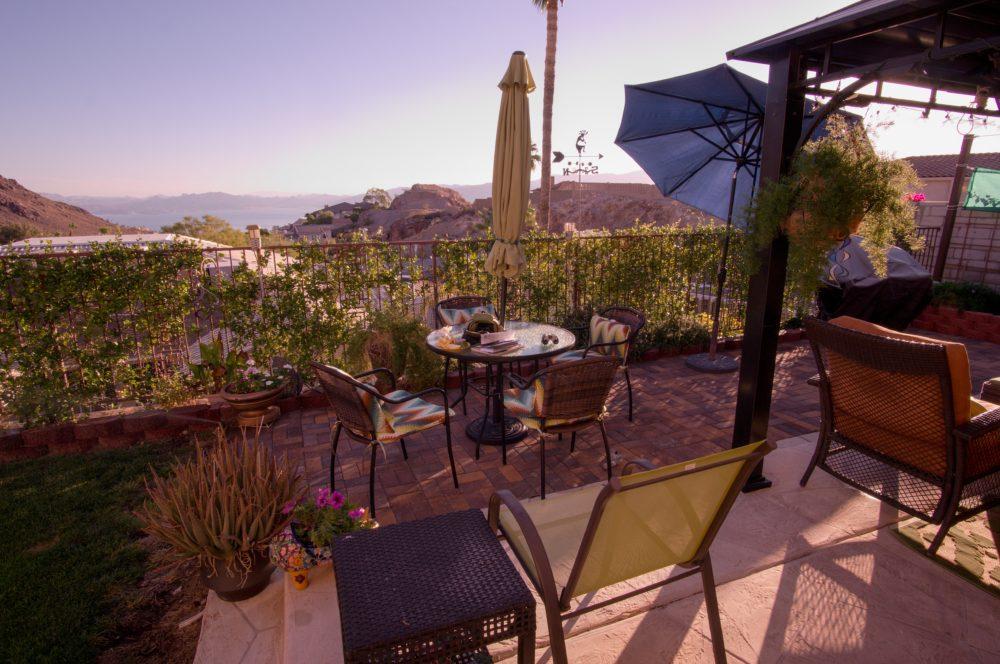 Beautiful patio and wonderful hospitality!