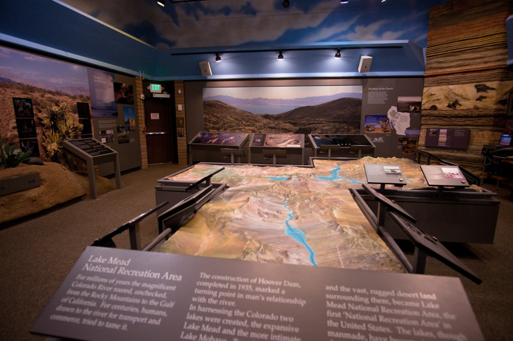 Inside Lake Mead Visitors Center
