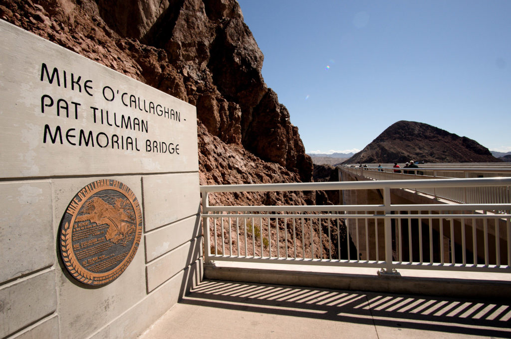 Hoover Dam Memorial Bridge Sign