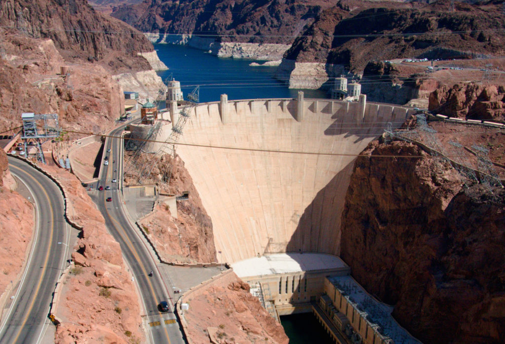 Hoover Dam view from the bridge