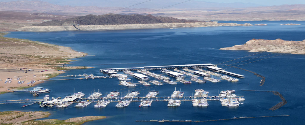 Lake Mead Marina from overlook