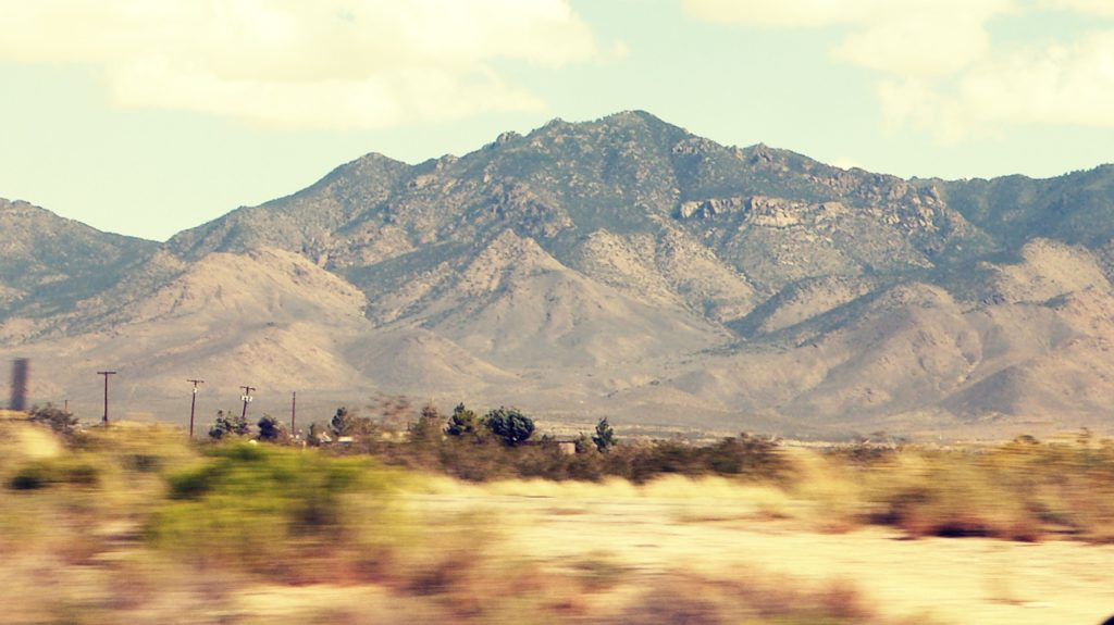 Driving To Williams, Arizona, Mountains