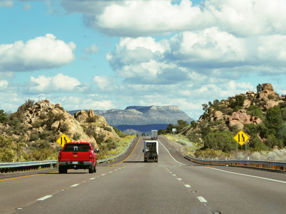 Driving to Williams, Arizona from Las Vegas