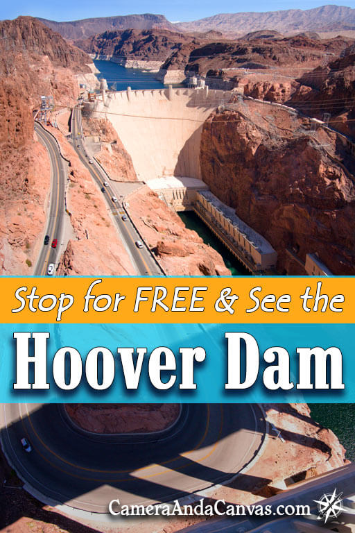 If you're on your way from Las Vegas Nevada and want to stop and Visit the Hoover Dam, you can get a great view and see it for FREE on the Hoover Dam Bridge! It's located at Lake Mead, Nevada. It makes a great quick pit stop if you're heading towards Arizona and the Grand Canyon, or if you're looking for things to do around Las Vegas and don't want to spend much money. #HooverDam #Nevada #LakeMead #HooverDamBridge