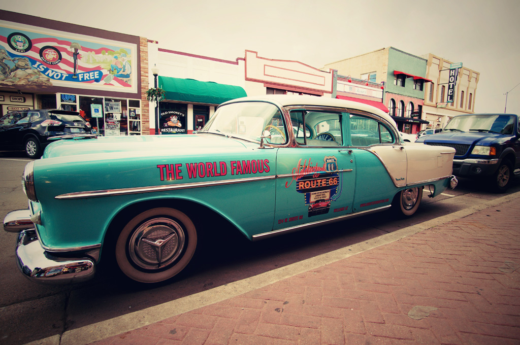 Old car on Route 66 in Williams