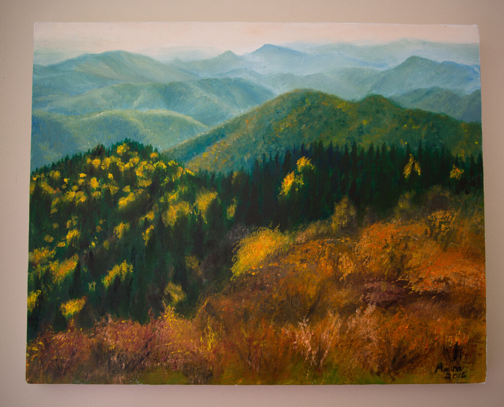 Blue Ridge Parkway Oil Painting by Maura Elko