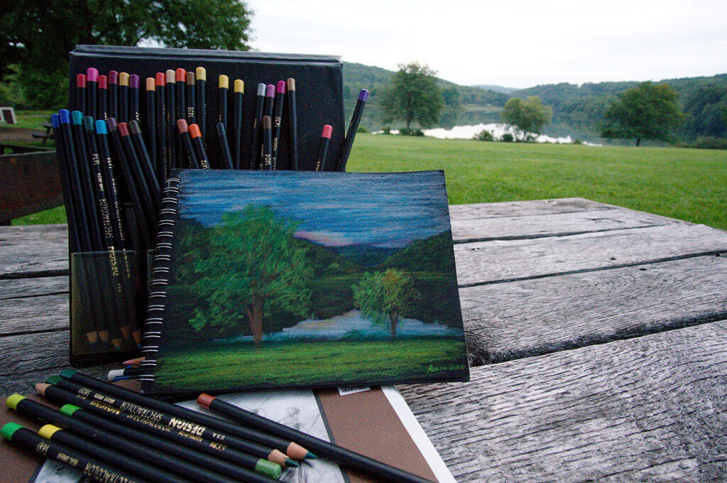 Lackawanna State Park Colored Pencil Drawing