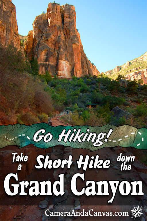 Take a short hike down the Grand Canyon. Bright Angel Trail to 1.5 Mile Resthouse. Mile and a Half Resthouse, Casual Hiking, Day Hiking, Easy hike in the Grand Canyon #GrandCanyon #hiking #arizona #nationalparks