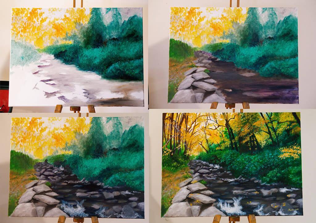Work in Progress Oil Painting