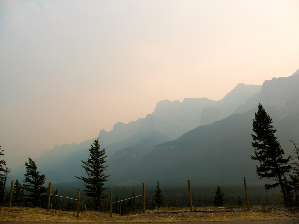 Smoke around Banff