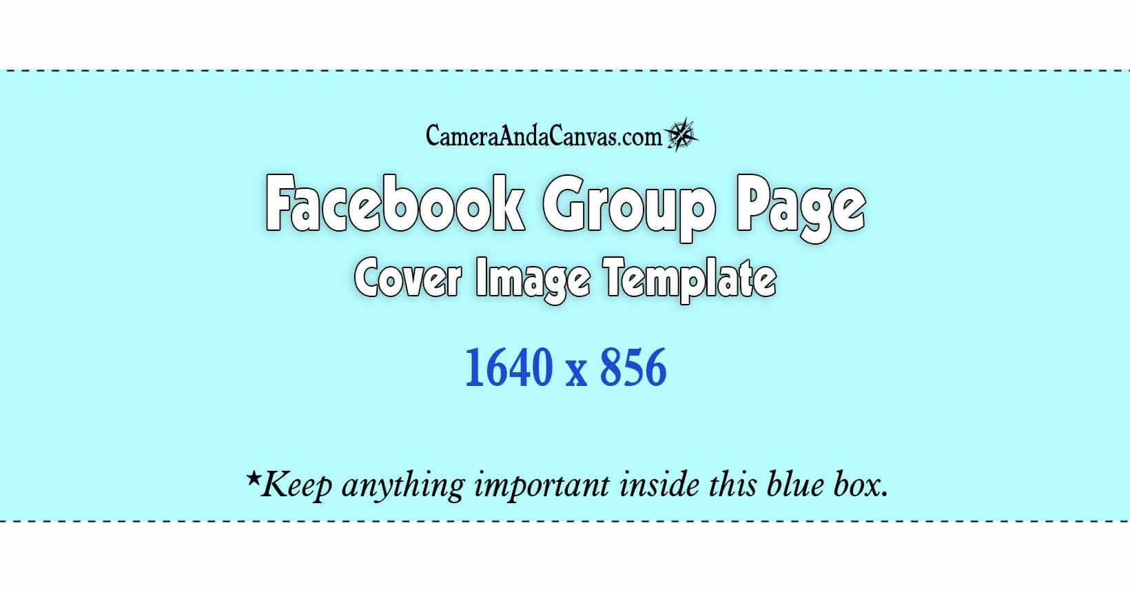 Facebook Group cover photo size