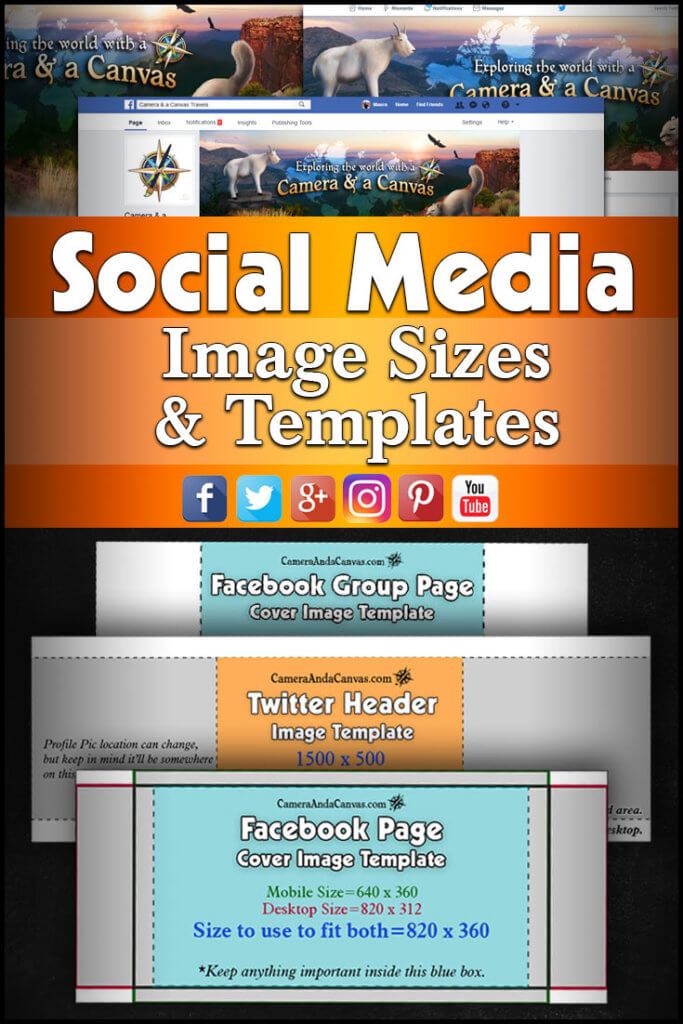 On Social Media, figuring out how big to make your cover photos can be a bit trickier than simply finding the standard dimensions given. Here's a small guide to help along with templates for Facebook & Twitter! Social Media Templates #facebookcoverphotosize #twitterheaderimagesize #socialmediaimagesizes