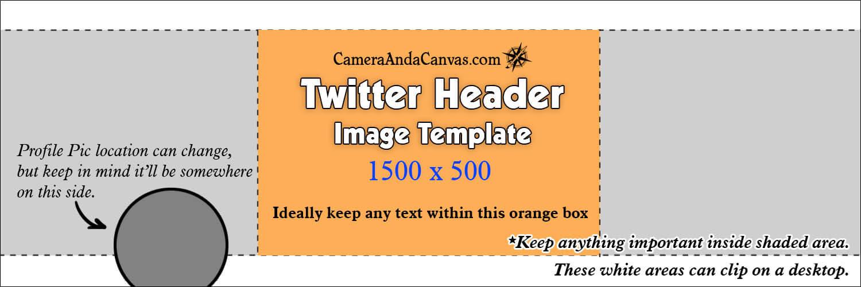 Twitter Header Photo Size Template