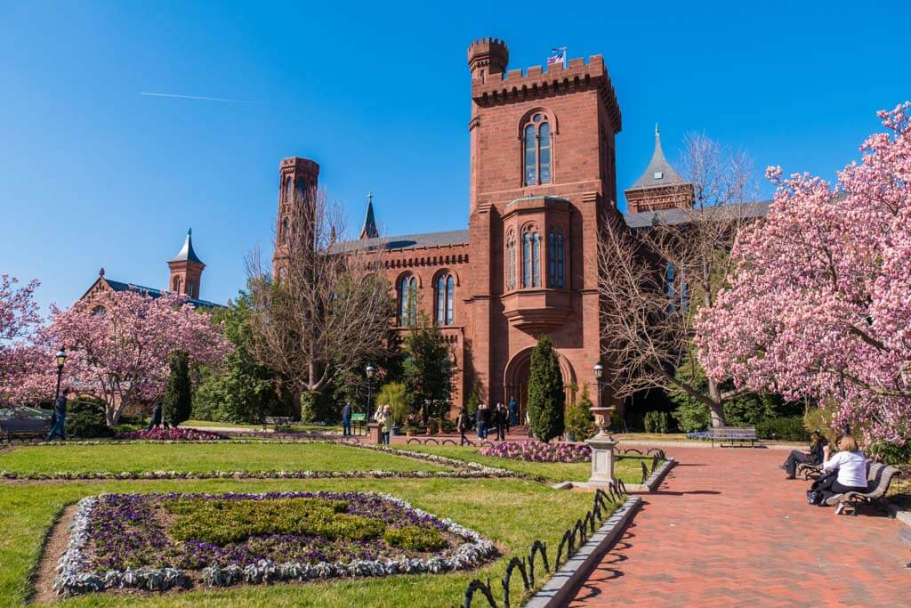 Smithsonian Castle in the Enid A. Haupt Garden