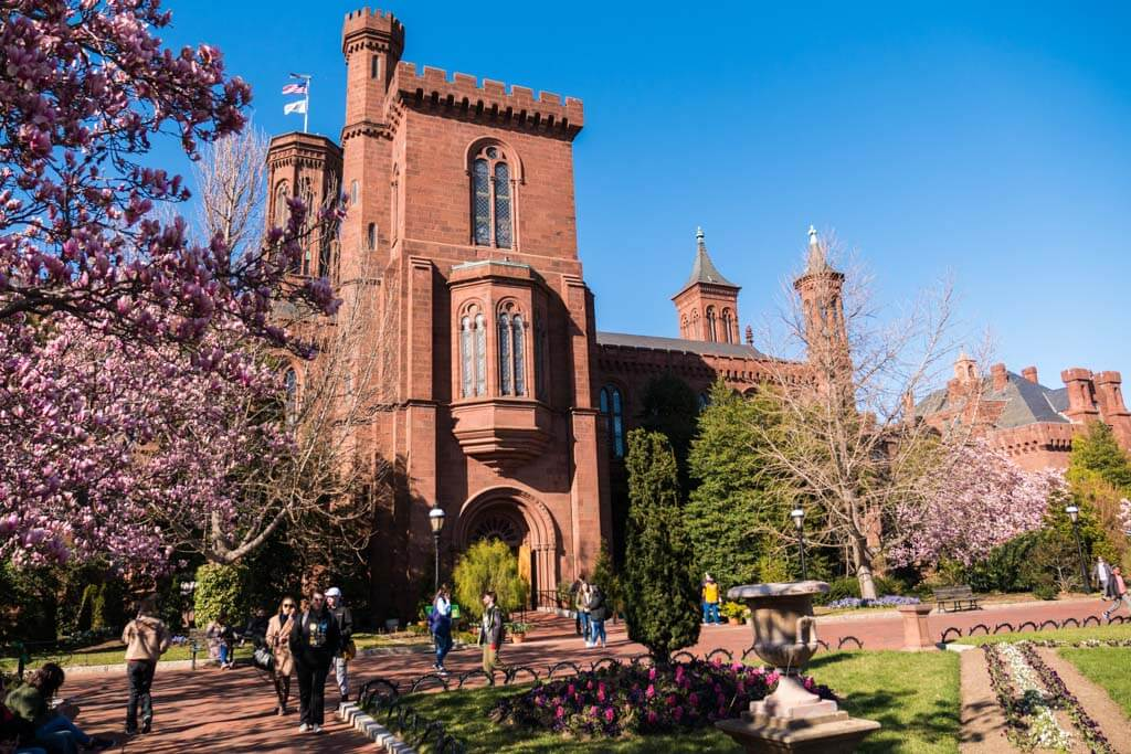Smithsonian Castle and the Enid A Haupt Garden