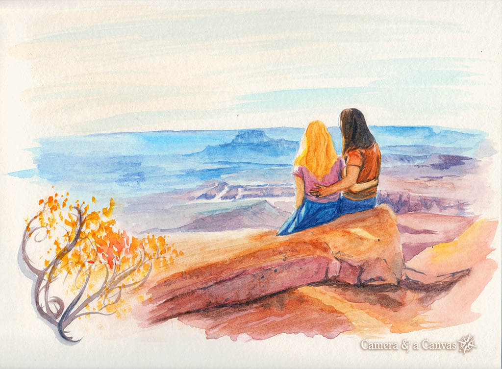 Canyonlands watercolor painting