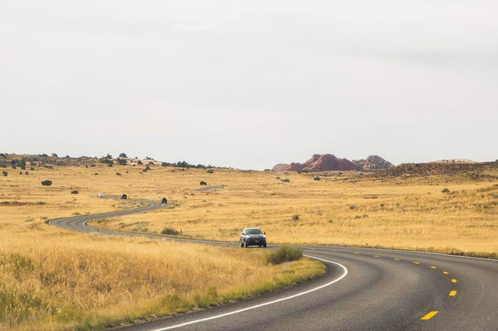 driving in canyonlands