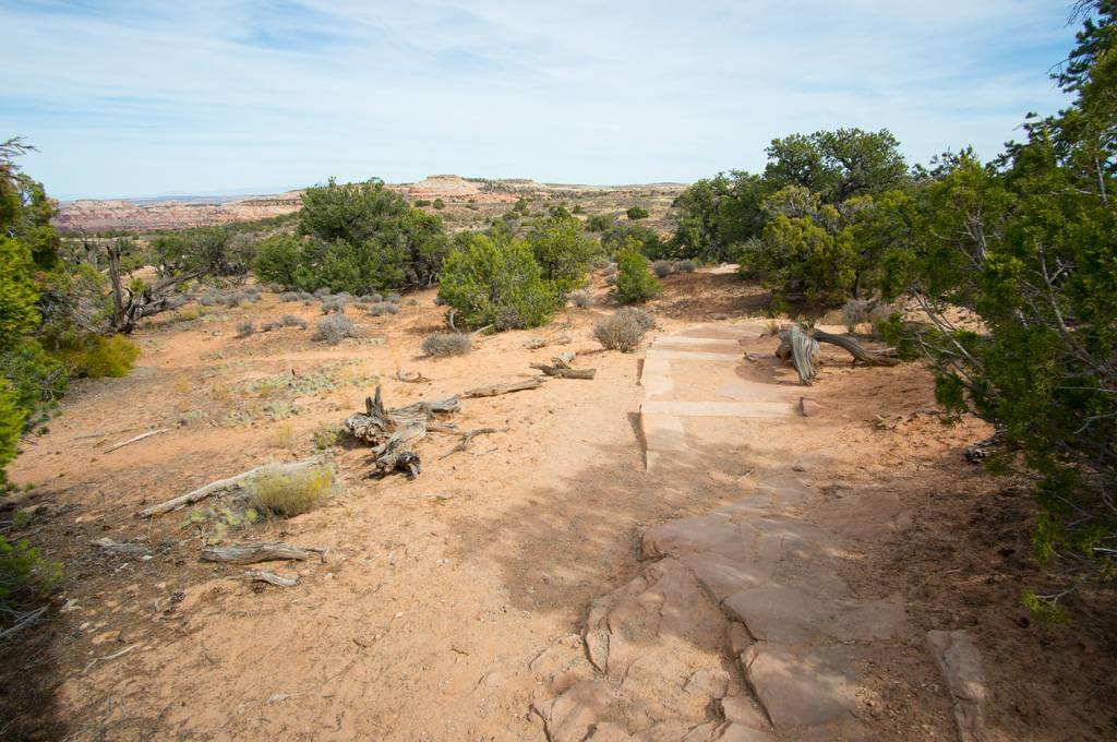Trail to Mesa Arch in Canyonlands National Park