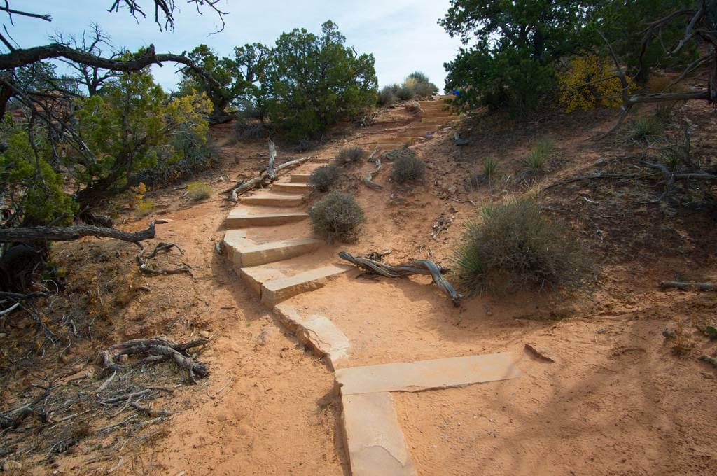 Mesa Arch Trail Stairs
