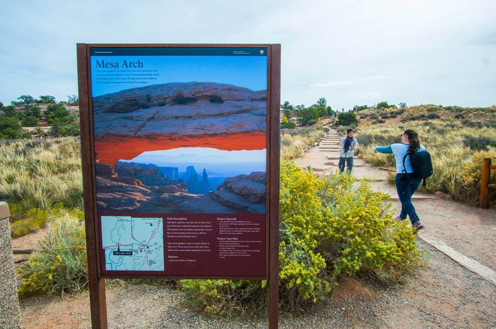Mesa Arch Trail Sign