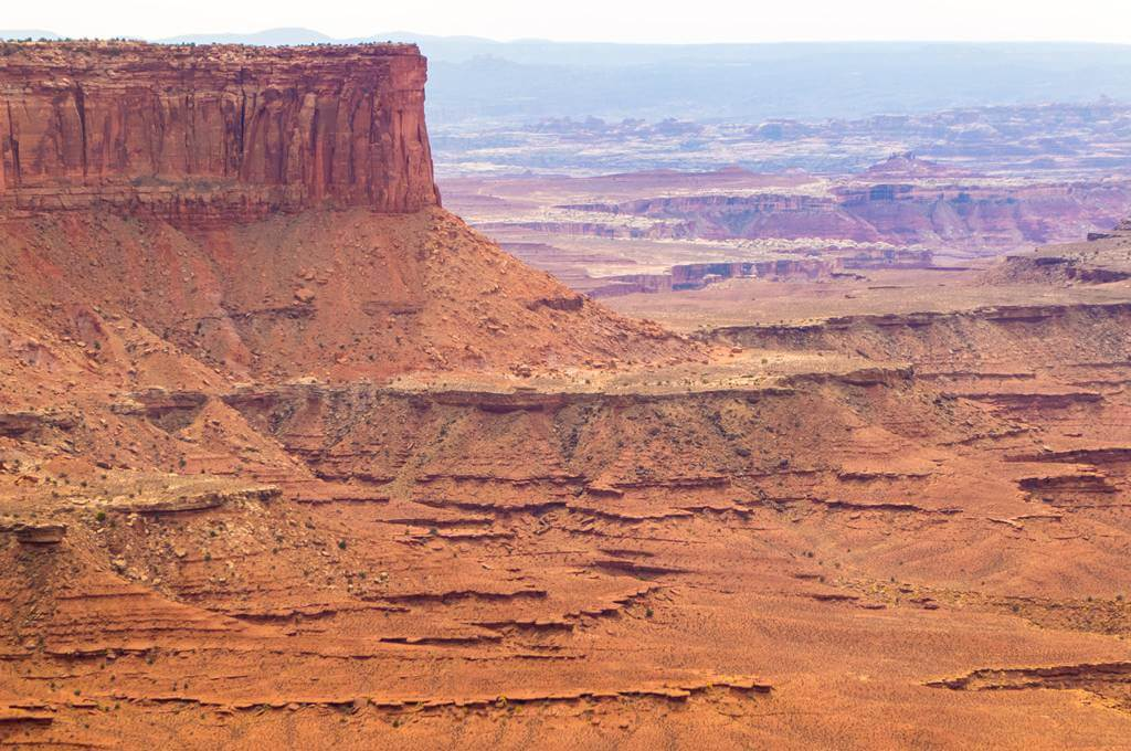 Buttes at overlooks in Canyonlands