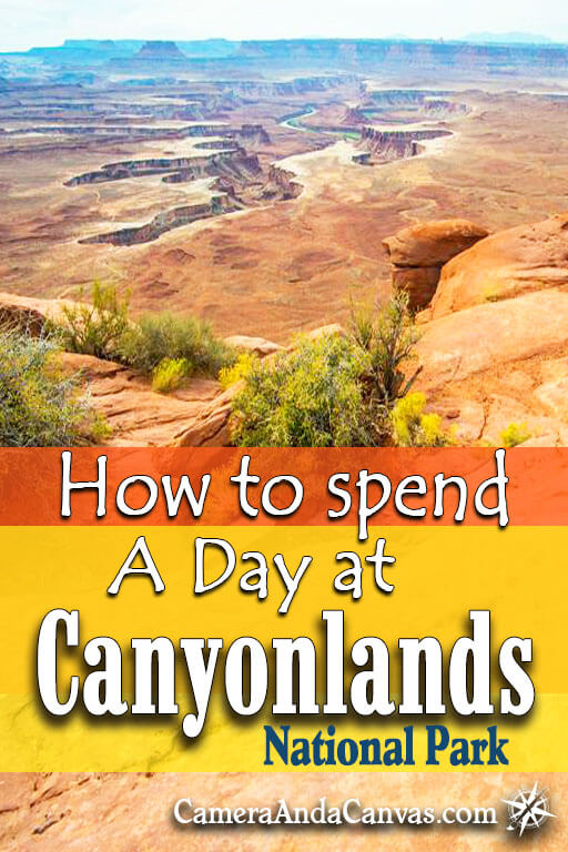 Visiting Canyonlands National Park for only a day? Go to Canyonlands Island in the Sky district, it's close to Moab, Utah, and has plenty of hikes and beautiful views of the canyons to see. I detail what a day was like for me and my husband when we visited, and how much we were able to see going at a leisurely pace. #Canyonlands #NationalParks #Moab #Utah
