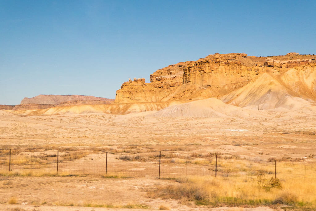 Land formations on I-70