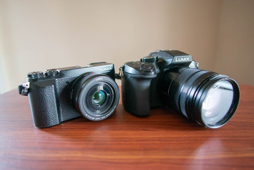 Mirrorless cameras. Panasonic Lumix GX85 and G85