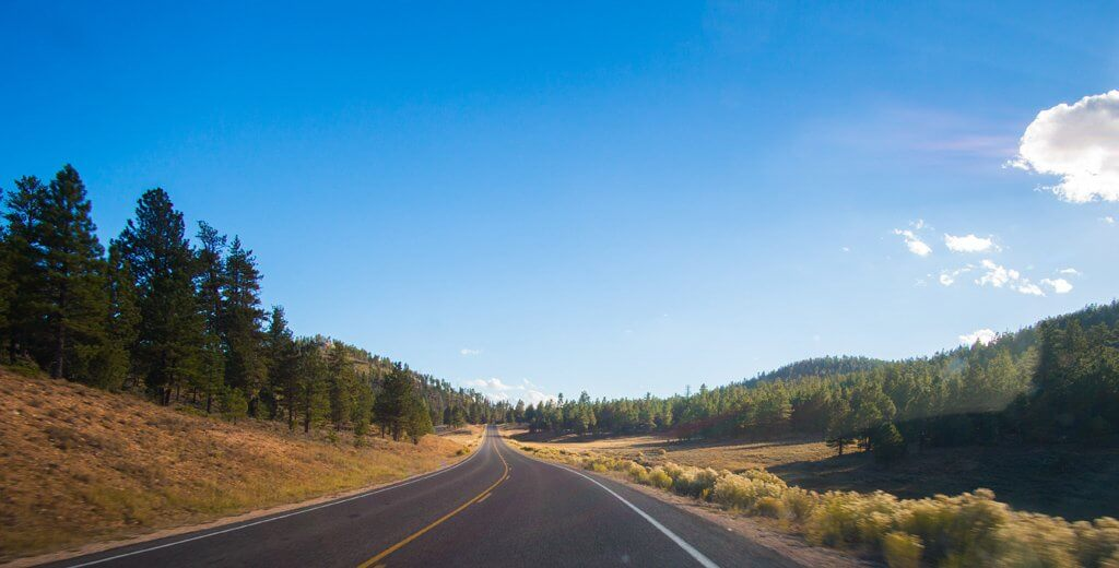 Driving in Bryce Canyon National Park