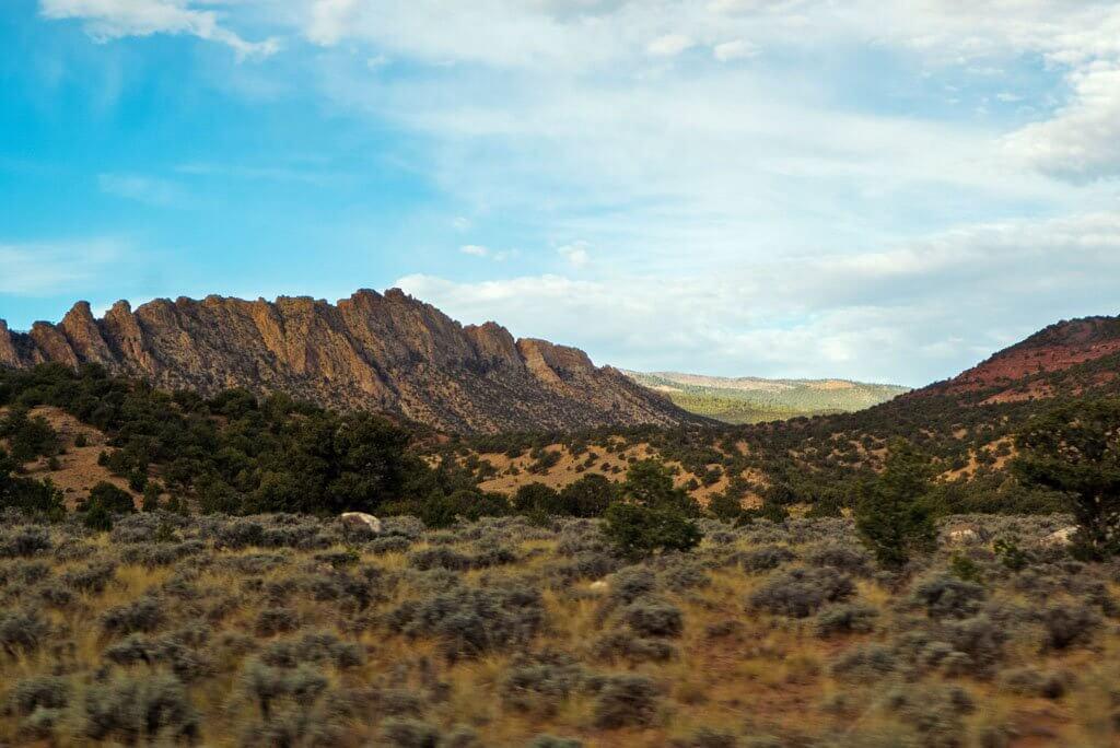 Utah landscape near Torrey on Scenic Byway 12