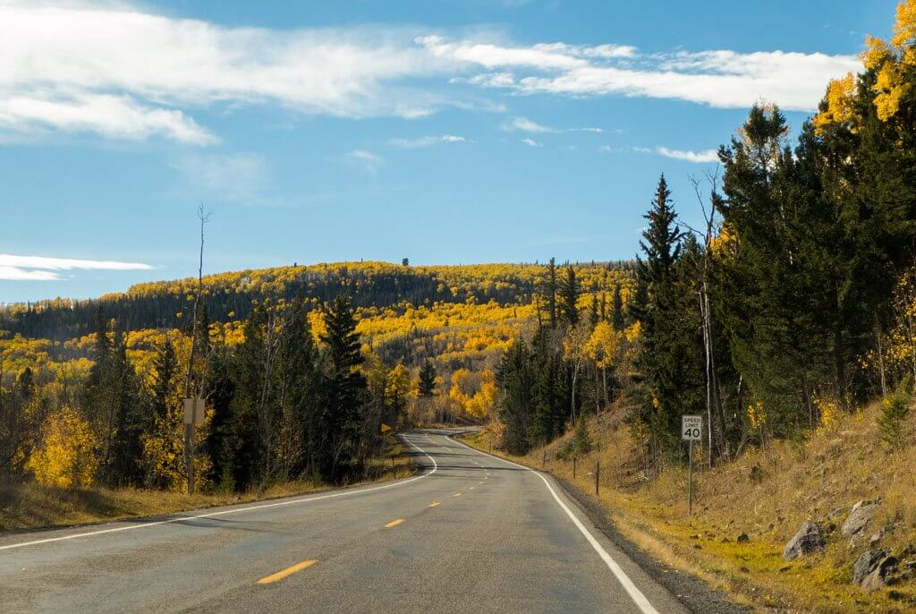 Beautiful scenery on the way to Bryce Canyon
