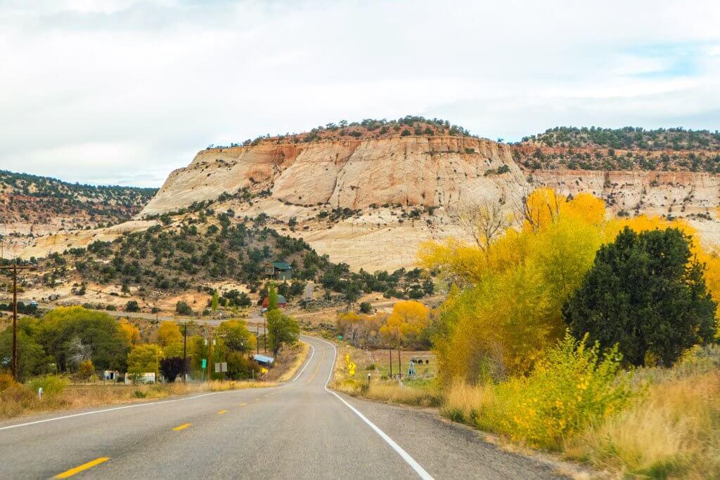 Driving along Utah route 12