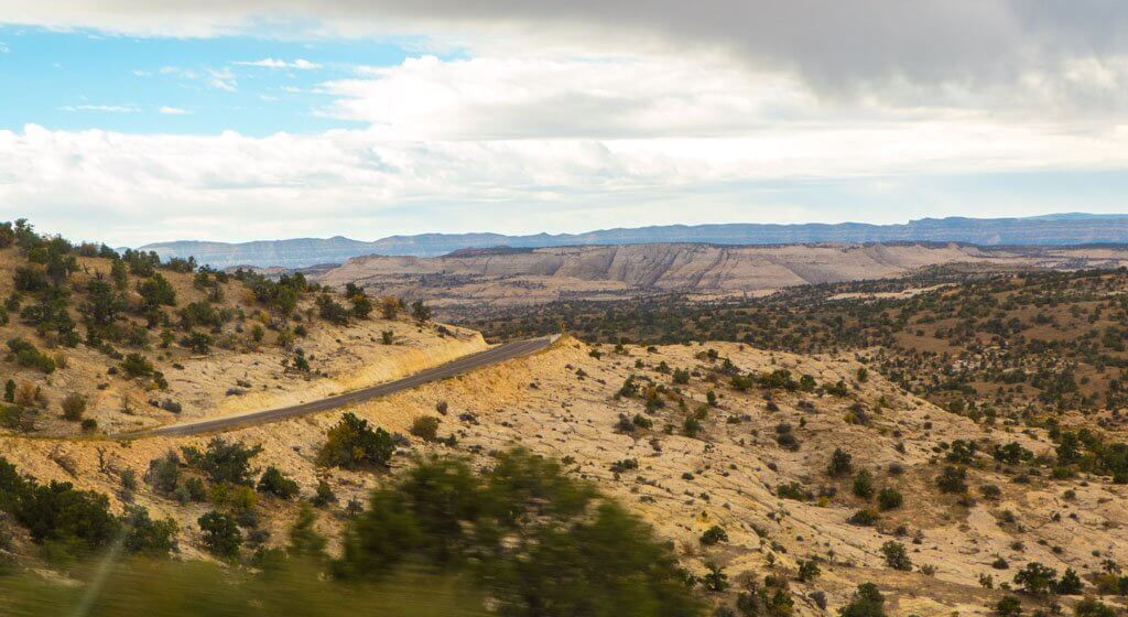 The road from Bryce to Capitol Reef scenic vista