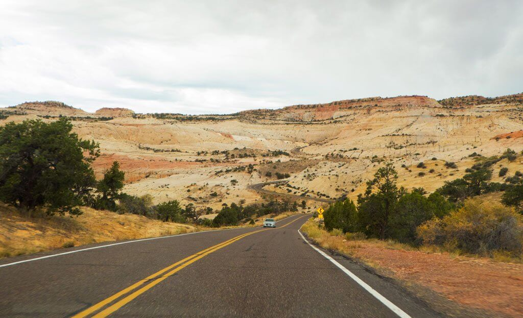 driving through Escalante
