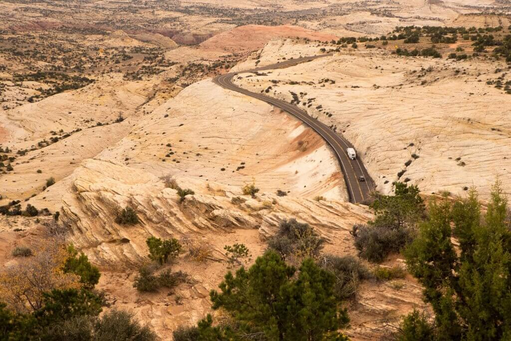 Driving through Grand Staircase Escalante National Monument