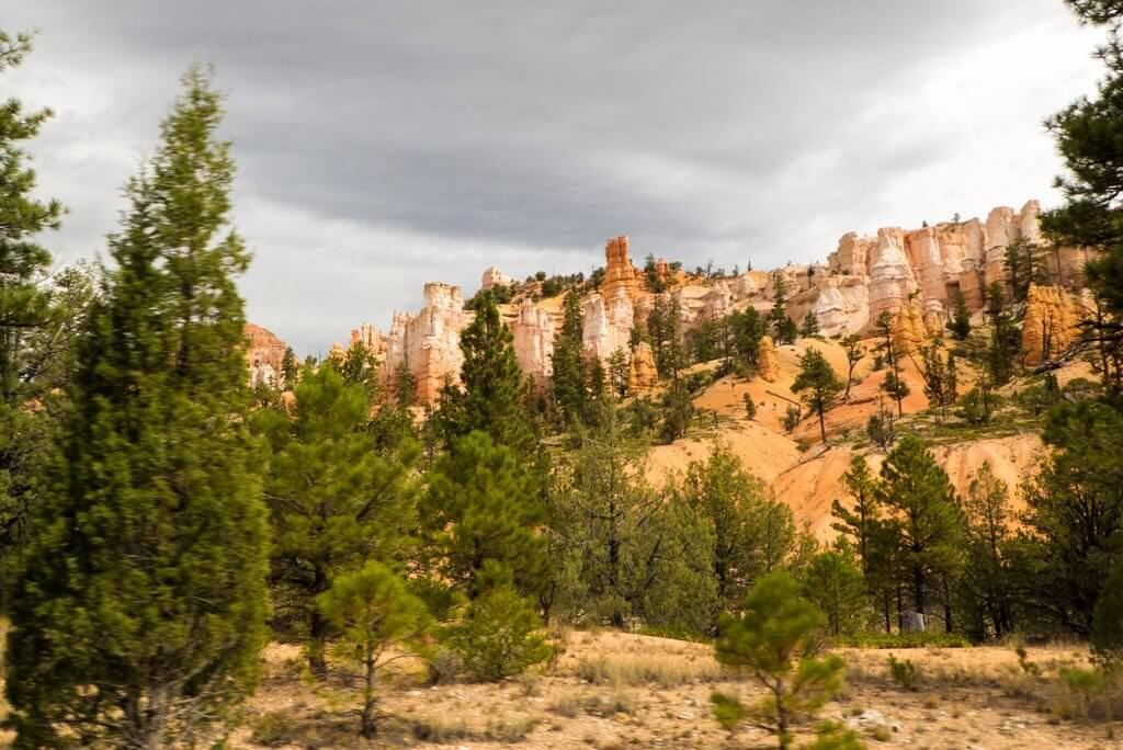 Bryce Canyon hoodoos as seen from the road