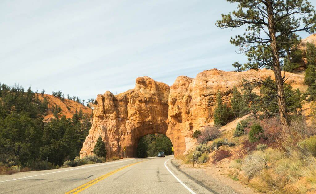 Archway near Red Canyon along Utah byway 12