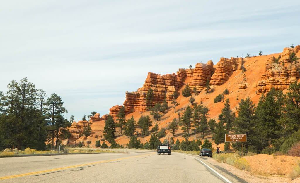 Red Canyon rock formations along Utah Scenic byway 12