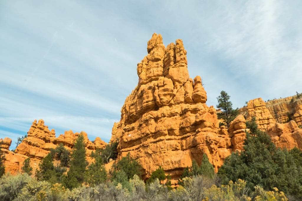 Formations around Red Canyon