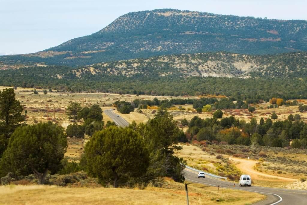 road towards zion national park
