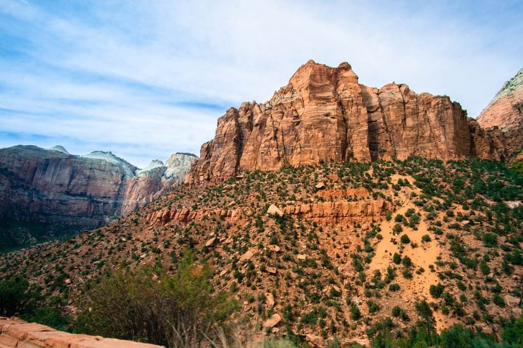 Scenery entering Zion National Park.