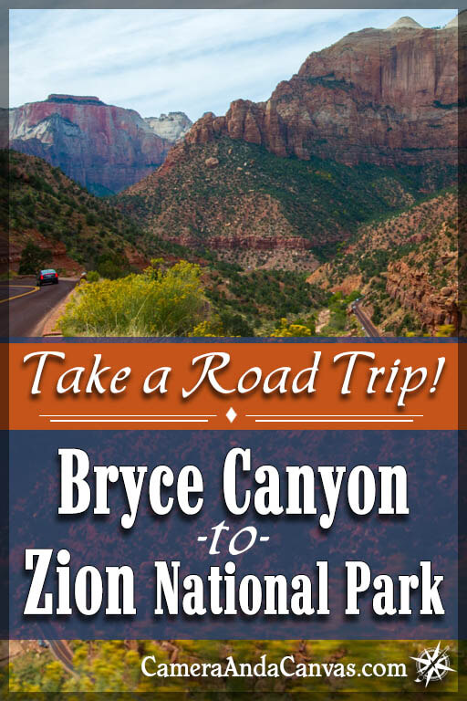 Driving from Bryce to Zion National Parks in Utah. Take a road trip!