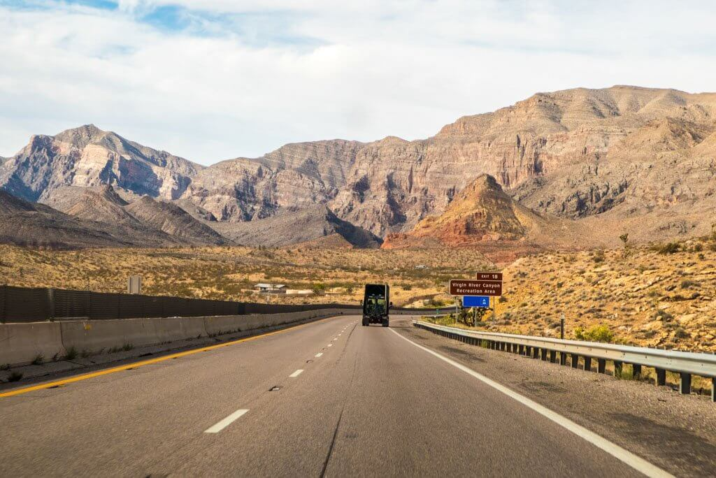 Virgin River Canyon Exit on Interstate 15