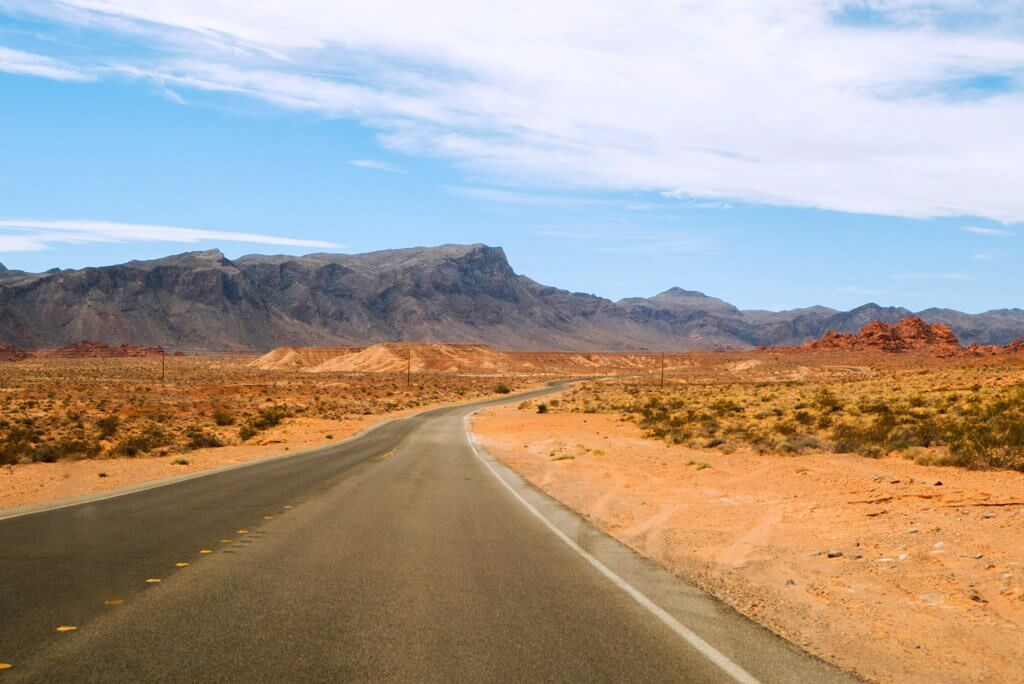 Entering valley of fire state park