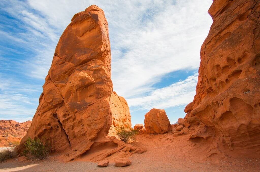 Stone formations in Valley of Fire