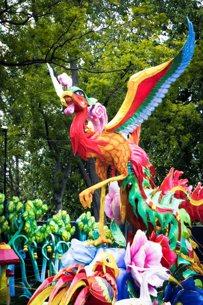 Chinese Lantern Festival 2017, Franklin Square, Philadelphia. Phoenix display.