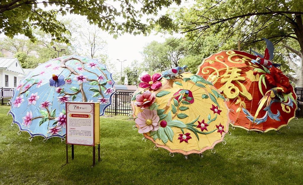 Chinese Lantern Festival 2017, Franklin Square, Philadelphia. Umbella display