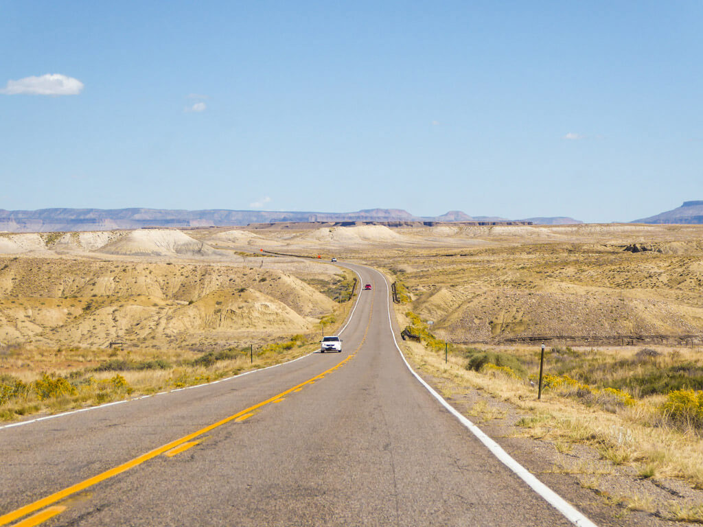 Driving from the Four Corners to Mesa Verde