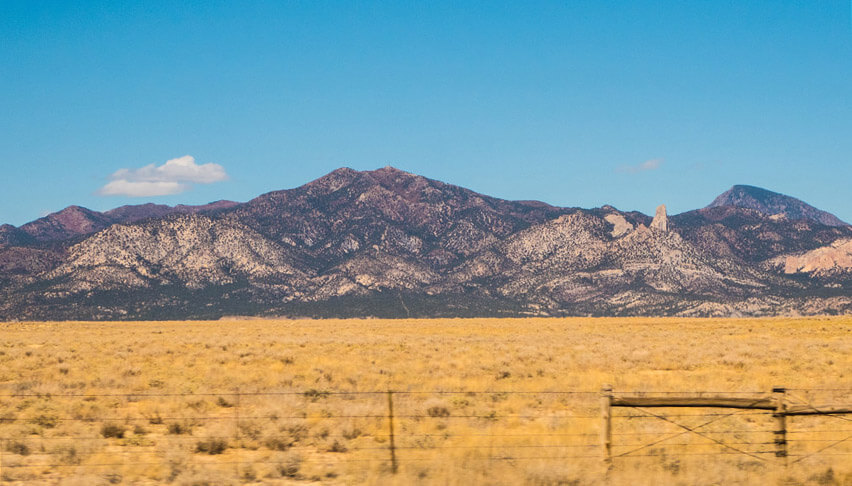 A close up of the Ute Mountains